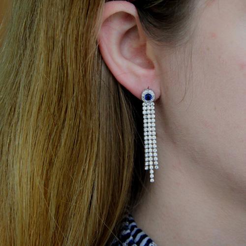 boucle oreille femme argent zirconium 9300176 pic5