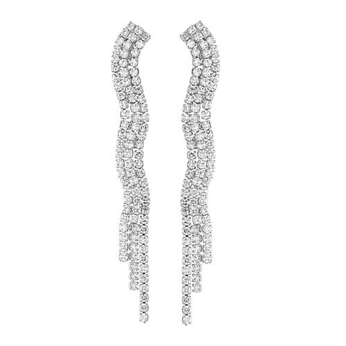 boucle oreille femme argent zirconium 9300177 pic2