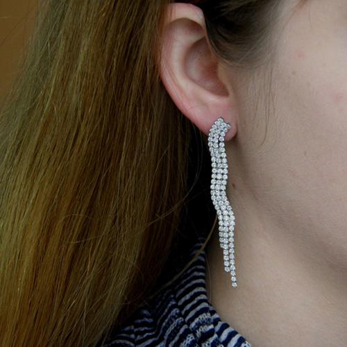 boucle oreille femme argent zirconium 9300177 pic5