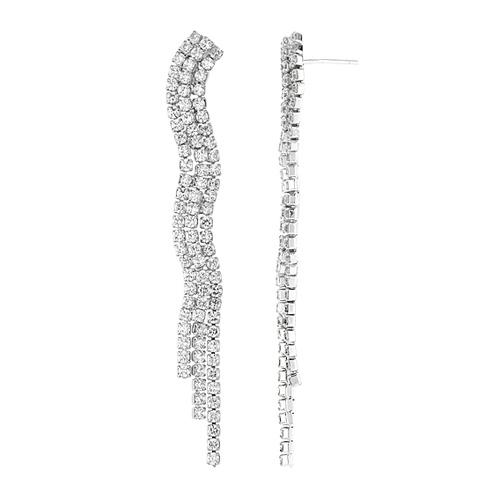 boucle oreille femme argent zirconium 9300177