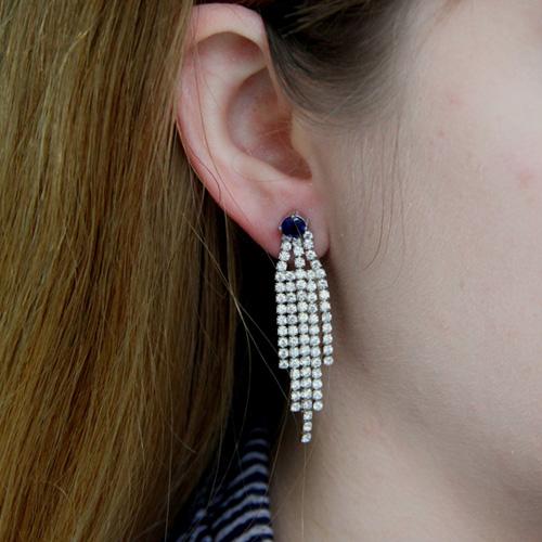 boucle oreille femme argent zirconium 9300178 pic5