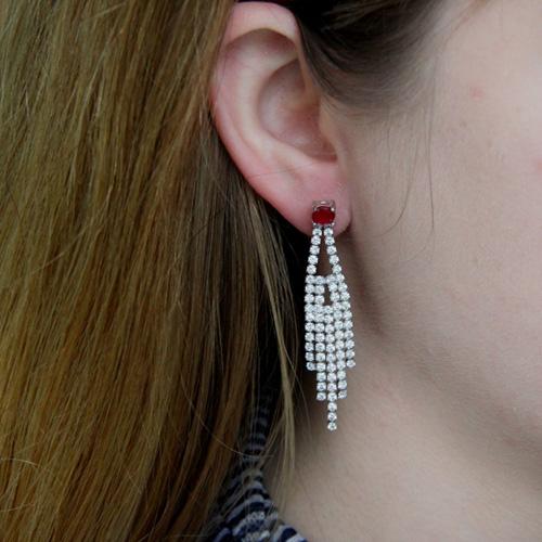 boucle oreille femme argent zirconium 9300179 pic5