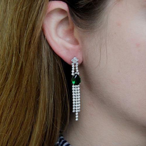 boucle oreille femme argent zirconium 9300182 pic5