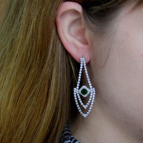 boucle oreille femme argent zirconium 9300183 pic5