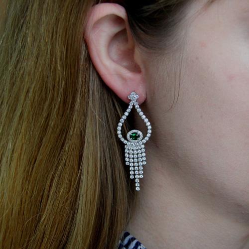 boucle oreille femme argent zirconium 9300184 pic5