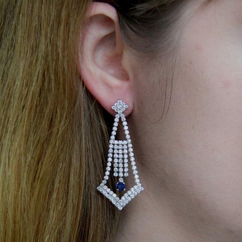 boucle oreille femme argent zirconium 9300185 pic5