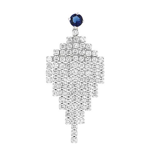 boucle oreille femme argent zirconium 9300186 pic2
