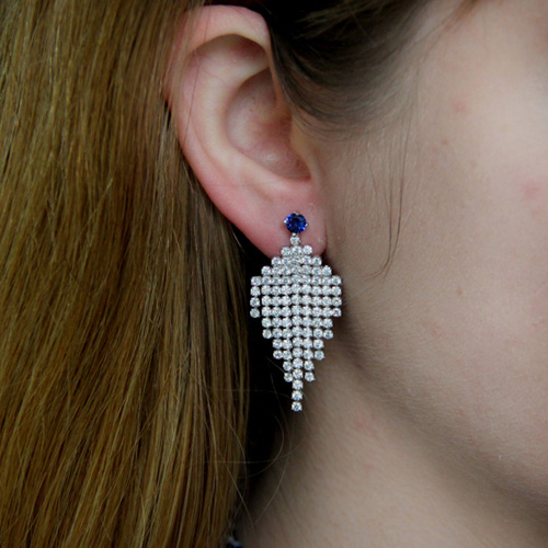 boucle oreille femme argent zirconium 9300186 pic5