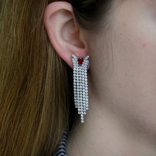 boucle oreille femme argent zirconium 9300187 pic5