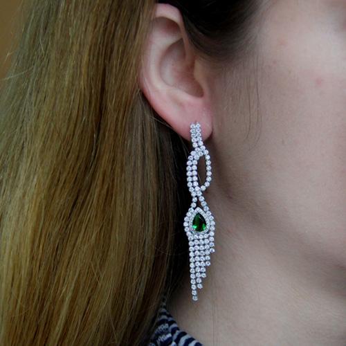 boucle oreille femme argent zirconium 9300189 pic5