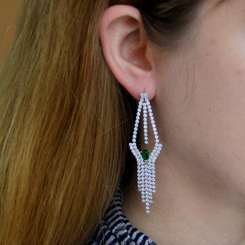 boucle oreille femme argent zirconium 9300190 pic5