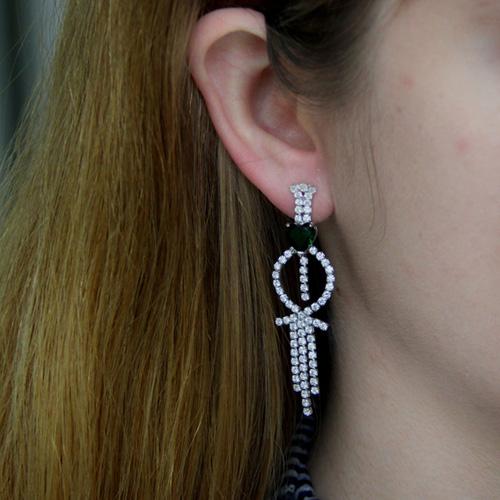 boucle oreille femme argent zirconium 9300191 pic5