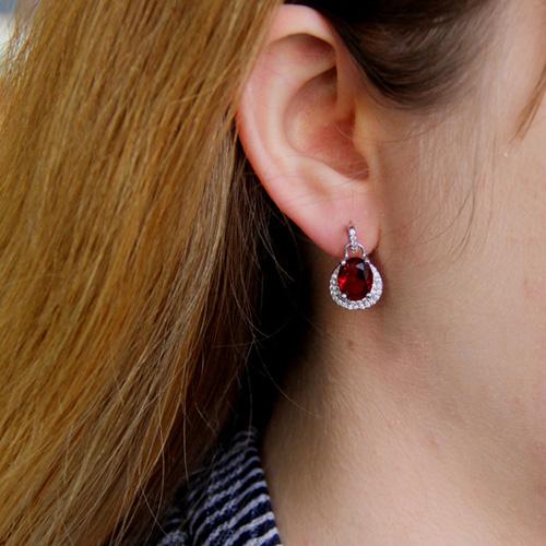 boucle oreille femme argent zirconium 9300192 pic5