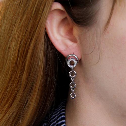 boucle oreille femme argent zirconium 9300193 pic5