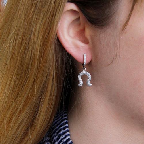 boucle oreille femme argent zirconium 9300194 pic5