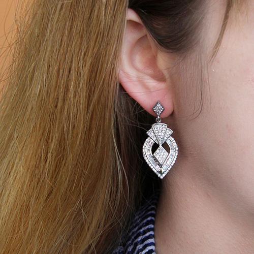 boucle oreille femme argent zirconium 9300195 pic5
