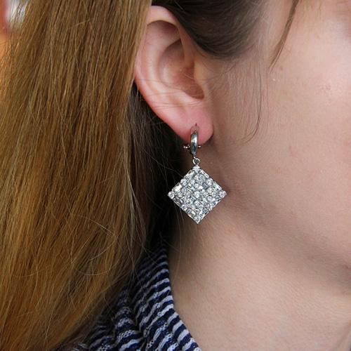 boucle oreille femme argent zirconium 9300196 pic5