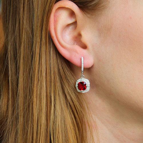 boucle oreille femme argent zirconium 9300198 pic5