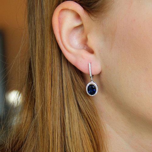 boucle oreille femme argent zirconium 9300199 pic5