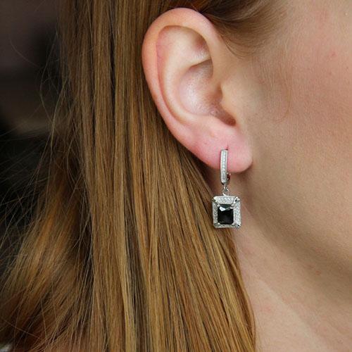 boucle oreille femme argent zirconium 9300201 pic5