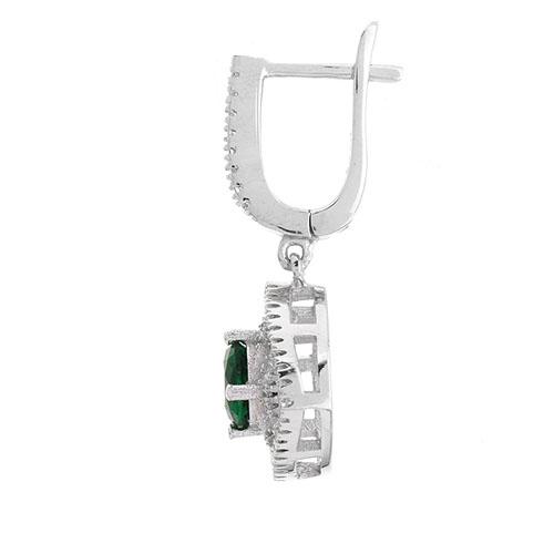 boucle oreille femme argent zirconium 9300203 pic3