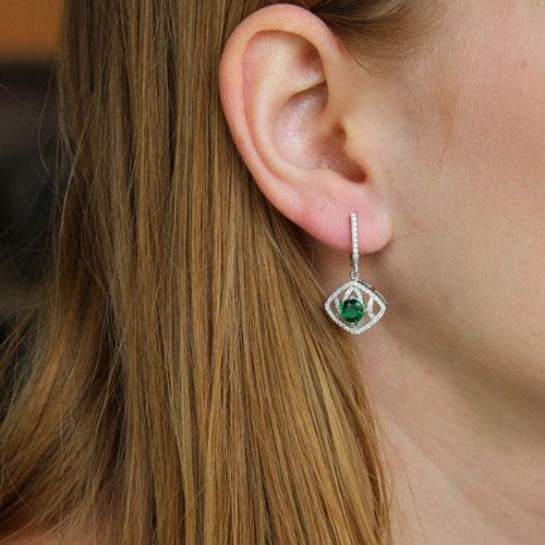 boucle oreille femme argent zirconium 9300203 pic5