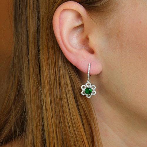 boucle oreille femme argent zirconium 9300204 pic5