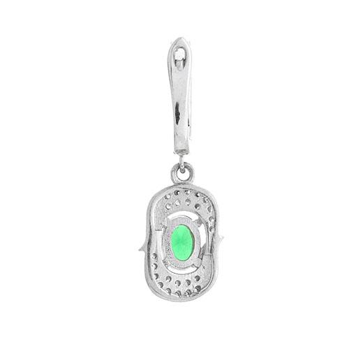 boucle oreille femme argent zirconium 9300206 pic4
