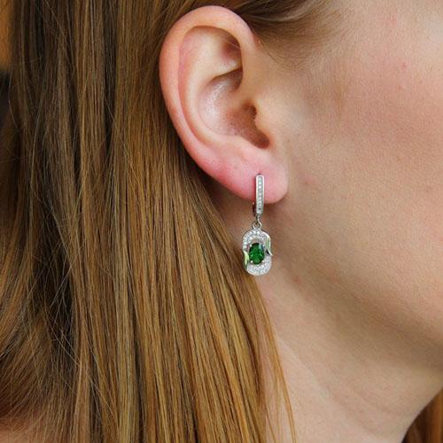 boucle oreille femme argent zirconium 9300206 pic5