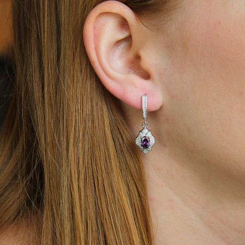 boucle oreille femme argent zirconium 9300207 pic5