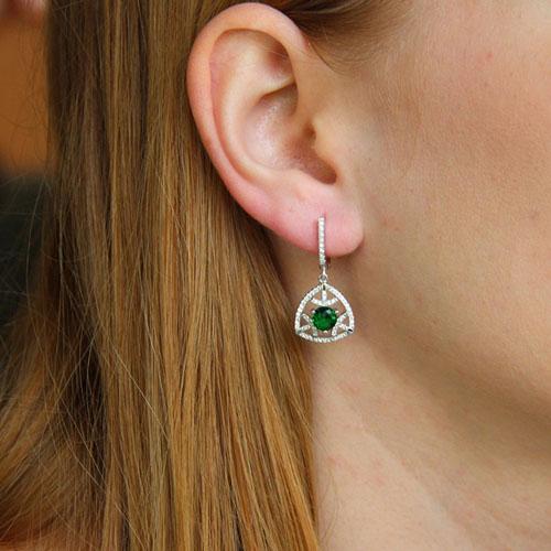 boucle oreille femme argent zirconium 9300208 pic5