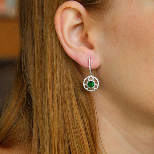 boucle oreille femme argent zirconium 9300209 pic5