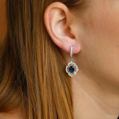 boucle oreille femme argent zirconium 9300210 pic5
