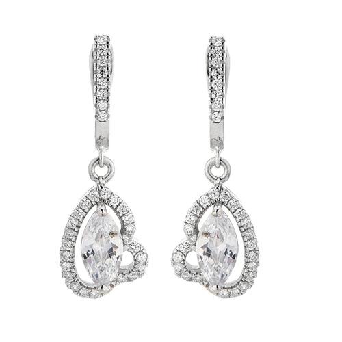 boucle oreille femme argent zirconium 9300211 pic2