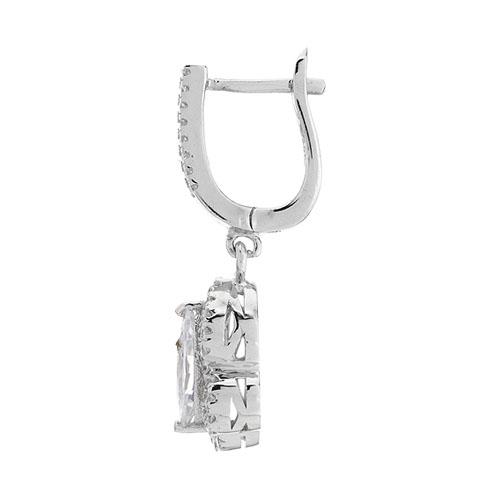 boucle oreille femme argent zirconium 9300211 pic3