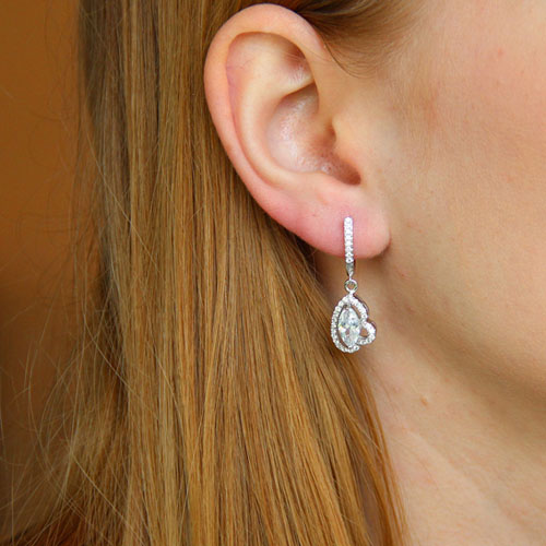 boucle oreille femme argent zirconium 9300211 pic5