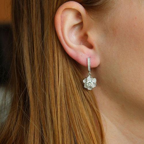 boucle oreille femme argent zirconium 9300212 pic5