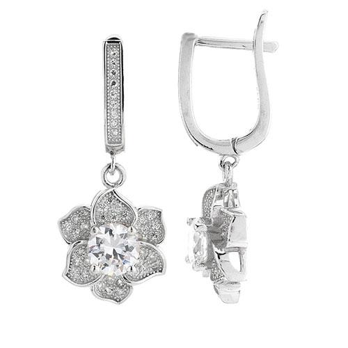 boucle oreille femme argent zirconium 9300212