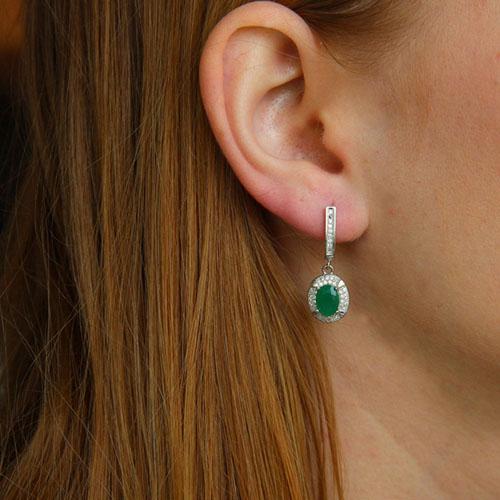 boucle oreille femme argent zirconium 9300213 pic5