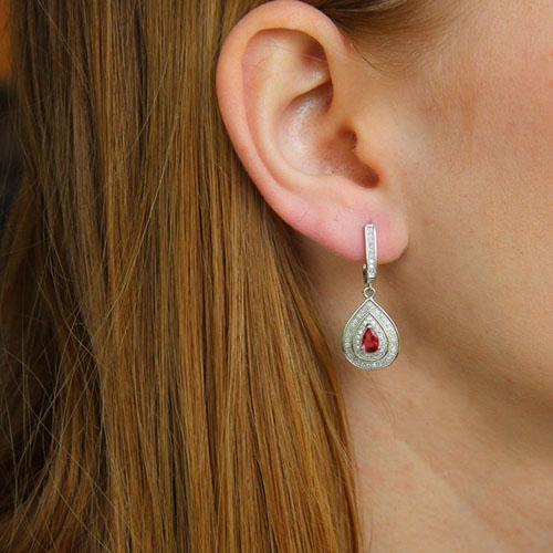 boucle oreille femme argent zirconium 9300214 pic5
