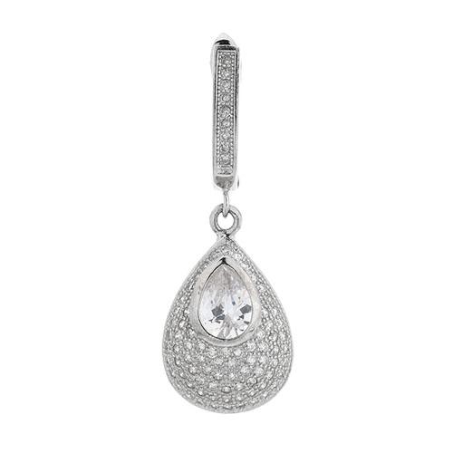 boucle oreille femme argent zirconium 9300215 pic2