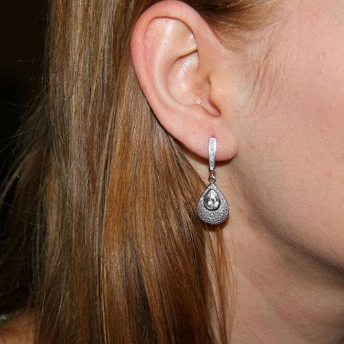 boucle oreille femme argent zirconium 9300215 pic5