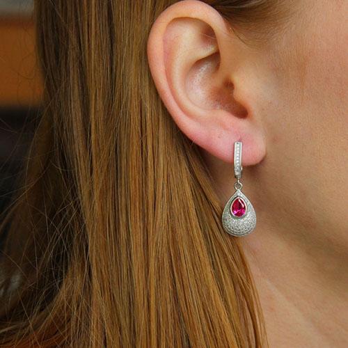 boucle oreille femme argent zirconium 9300216 pic5