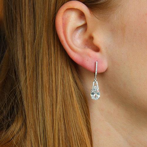 boucle oreille femme argent zirconium 9300217 pic5
