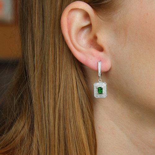 boucle oreille femme argent zirconium 9300218 pic5