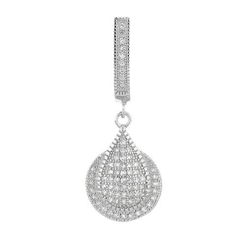 boucle oreille femme argent zirconium 9300219 pic2