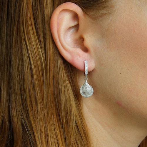 boucle oreille femme argent zirconium 9300219 pic5