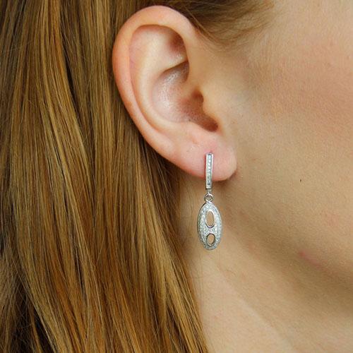 boucle oreille femme argent zirconium 9300220 pic5
