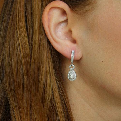 boucle oreille femme argent zirconium 9300221 pic5