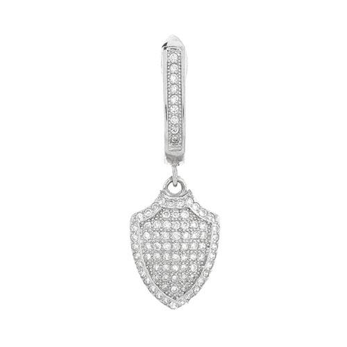 boucle oreille femme argent zirconium 9300223 pic2